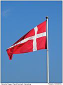 Dansk Flag on a Flagpole - Danish Flag - Dannebrog